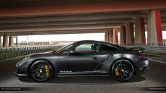 Matte Black Porsche 991 Turbo S