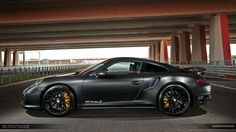 Matte Black Porsche 991 Turbo S