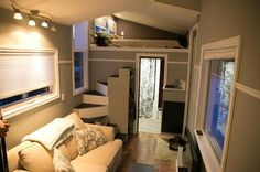 Tiny House:  Original design, featuring full sized bathtub, full sofa, staircase and plenty of storage underneath kitchen.: