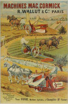 Machines agricoles Mac Cormick, début 20ème siècle.