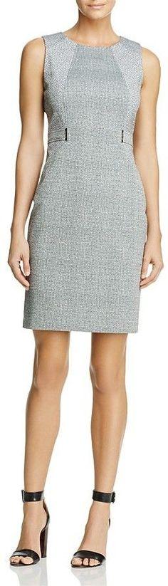 Calvin Klein Faux Belt Sheath Dress - 100% Exclusive