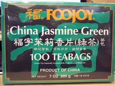 Foojoy Jasmine Green Tea, 7oz 100 Individually Wrapped Teabags * Remarkable product available  : Fresh Groceries