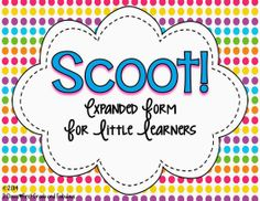Expanded Form Scoot-First Grade and Fabulous Centers First Grade, First Grade Activities, 1st Grade Math, Math Centers, Math Activities, Addition Activities, Addition Games, Math Place Value, Place Values
