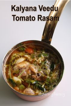 Delicious and hot rasam recipe made using tomatoes and it is similar to the ones which you get in wedding. Taste so yummy with hot rice. Paneer Recipes, Indian Food Recipes, Soup Recipes, Vegetarian Recipes, Cooking Recipes, Curry Recipes, Tomato Rasam Recipe, Sambhar Recipe, Kitchens