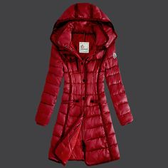 Discount Moncler Down Coats Women 2013 Style Red Sale Sale