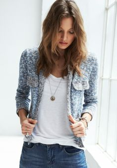 Knitted Crop Jacket from hush