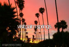 Bucket list: visit palm springs