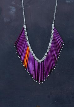 Rising Sun  Urban Pioneer Porcupine Quill Necklace by prairieoats, $120.00