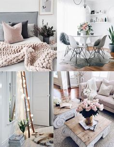 1. Light calming colors: light grey, pastel pink, white (& all colors of nature) 2. Soft lightning: lamps that are dimmable, fairy lights, placing table and floor lamps in nearly every corner (I have
