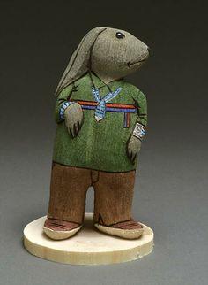 Folk Art Rabbit Sculpture by Marvin Jim (Navajo)