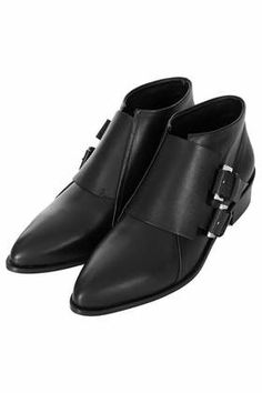 ADDER Double Buckle Monk Boots