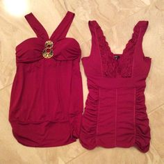 2 XOXO dressy shirts *Bundle* Only wore them once each, very cute and comfy, both WINE color! XOXO Tops Blouses