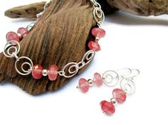 Tourmaline and Sterling Silver Bracelet and by ValentineCreations, $28.00
