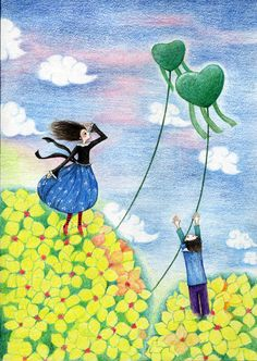 Do you remember the first time we together with two fresh hearts,that feeling is so green~ Do You Remember, In A Heartbeat, First Time, Hearts, Fresh, The Originals, Painting, Painting Art, Paintings