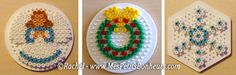 Christmas ornaments hama perler beads by Rachel