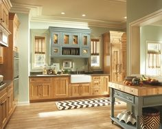 Charming Light Green Kitchen Cabinets Design : Mesmerizing Traditional Kitchen Room Design With Light Wooden Floor And Light Kitchen Cabinet Ideas Knotty Pine Kitchen, Pine Kitchen Cabinets, Painting Kitchen Cabinets White, Kitchen Paint Colors, Kitchen Room Design, Kitchen Cabinet Design, Kitchen Redo, Kitchen Remodel, Knotty Alder