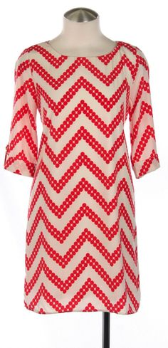 Forever Young Shift Dress - Red/White