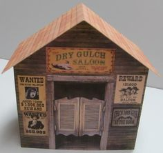 PAPERMAU: The Dry Gulch Saloon Paper Model - by Chris Longvallon