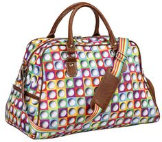 Introducing our new On The Ball Sydney Love Ladies Golf Shoulder Shoe Bag: hand drawn, colorful collage of golf balls on ripstop material! #golf #golfbag #lorisgolfshoppe