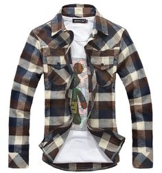 Men's Plaid Long Sleeve Shirt | Raddest Looks On The Internet www.raddestlooks.net