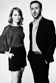 Emma Stone and Ryan Gosling photographed by Austin Hargrave.