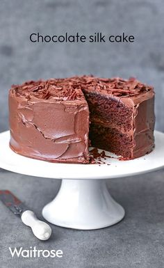 Master chocolate cake with our simple chocolate silk cake recipe, it's a great base recipe and can easily be adapted. Chocolate Fudge Cake, Brownie Cake, Chocolate Recipes, Chocolate Traybake, Waitrose Food, Sponge Cake Recipes, Christmas Baking, Yummy Cakes, No Bake Cake