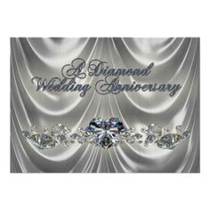Shop Diamond Wedding Anniversary Invitation created by Digitalbcon. Personalize it with photos & text or purchase as is! 60th Anniversary Parties, Anniversary Party Decorations, Wedding Anniversary Invitations, Card Wedding, Wedding Stuff, Wedding Aniversary, 60 Wedding Anniversary, Anniversary Ideas, Anniversary Cakes