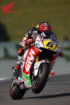 2012 Moto GP Round 8 at Sachsenring, Germany. Picture features #6 Stefan Bradl. For more information visit http://motorcycles.honda.com.au/Honda_Racing