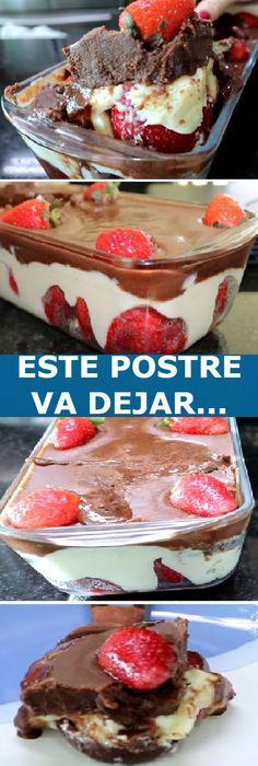 Postre Chocolate, Crepes, Deli, Tiramisu, Brownies, Cravings, French Toast, Deserts, Dessert Recipes