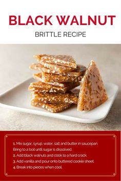 Create an impossibly thin gourmet brittle with caramelized sugar and crunchy black walnuts.