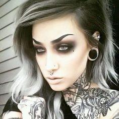 Short black and grey hair