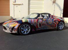 Tesla Roadster - but it looks like a wrap.