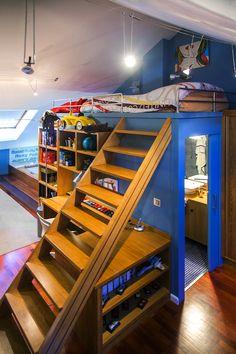 Un dormitorio juvenil, aprovechando espacios //  A junior bedroom: an example of optimizing space
