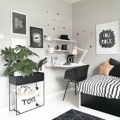 beautiful minimalist home office ideas you must know 19 Cute Room Ideas, Cute Room Decor, Home Office Design, Home Office Decor, Home Decor, Office Ideas, Bedroom Workspace, Bedroom Decor, Monochrome Bedroom