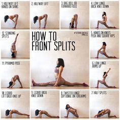Stretches to achieve front splits