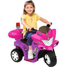 Lil' Patrol 6-Volt Battery-Powered Ride-On, Purple and Pink, Kinderelektrofahrzeuge Kinderelektrofahrzeuge
