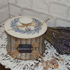 """Кухня ручной работы. Ярмарка Мастеров - ручная работа. Купить """"Лаванда"""" короб с росписью. Handmade. Лавандовый, коробка для чая"""
