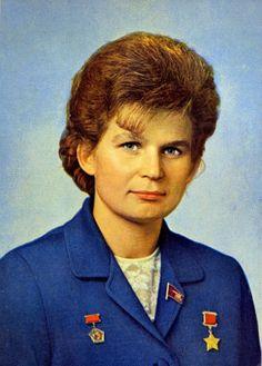 Cosmonaut Valentina Tereshkova, the first woman in space.