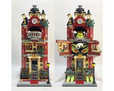 Lego Haunted House, Abandoned Prisons, Mario Toys, Diner Sign, Lego Halloween, Lego Modular, Lego Castle, Lego Parts, Lego Creator