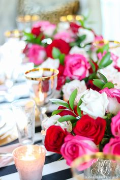 Chic Galentine's Day Table for Valentine's Day - Randi Garrett Design