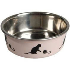 Katteskål Bella Pink Cat Feeder, Blue Cats, Dog Bowls, Flamingo, Pink, Products, Gatos, Rabbits, Hipster Stuff
