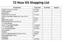 72 hour kit