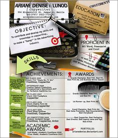 28 Best Creative Resume Examples Images On Pinterest Creative