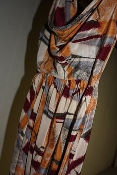 Retro Couture Designer Silk Dress By Karen by VintagebyViola, $39.00  awesome buy ladies!
