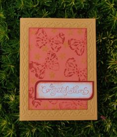 """Technique - click on link to see """"kissed embossed"""" instructions Butterfly Kisses"""