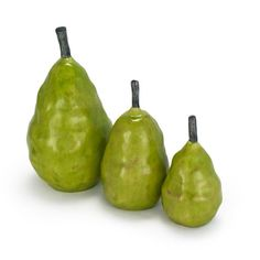 Pear Sculpture Set of 3 Green - $45    LOVE these.