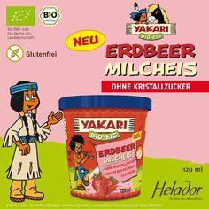 """""""YAKARI Bio Erdbeer Milcheis von Helador * GLUTENFREI *"""""""