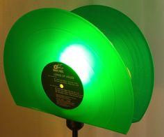 Vintage Stehlampen - Stehlampe aus Schallplatte, Vintage Standlampe  - ein Designerstück von Aurum bei DaWanda