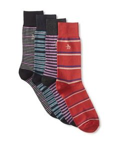 Original Penguin Men's Multi-Patterned Socks - 4 Pack, http://www.myhabit.com/redirect/ref=qd_sw_dp_pi_li?url=http%3A%2F%2Fwww.myhabit.com%2Fdp%2FB00HLESJVK
