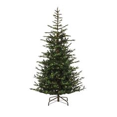9 ft. Pre-Lit Feel Real Norwegian Spruce Artificial Christmas Tree with 700 Clear Lights, Greens